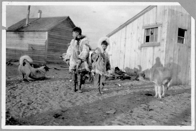 Eskimo boys and dogs LOC